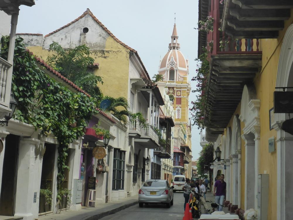 Cartagena, historico centro street scene