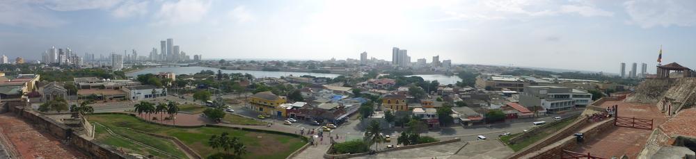 Cartagena from castillo de san felipe