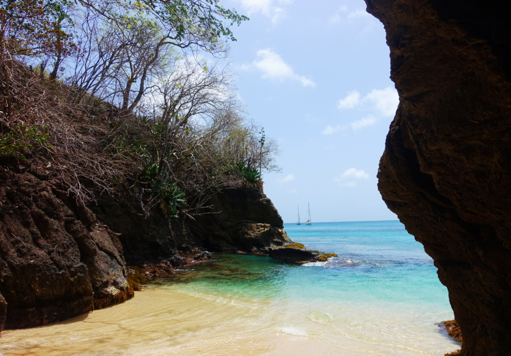 Cave, southern end, St Margaret's Beach, Bequia