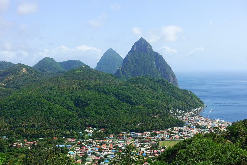 the pitons and soufriere