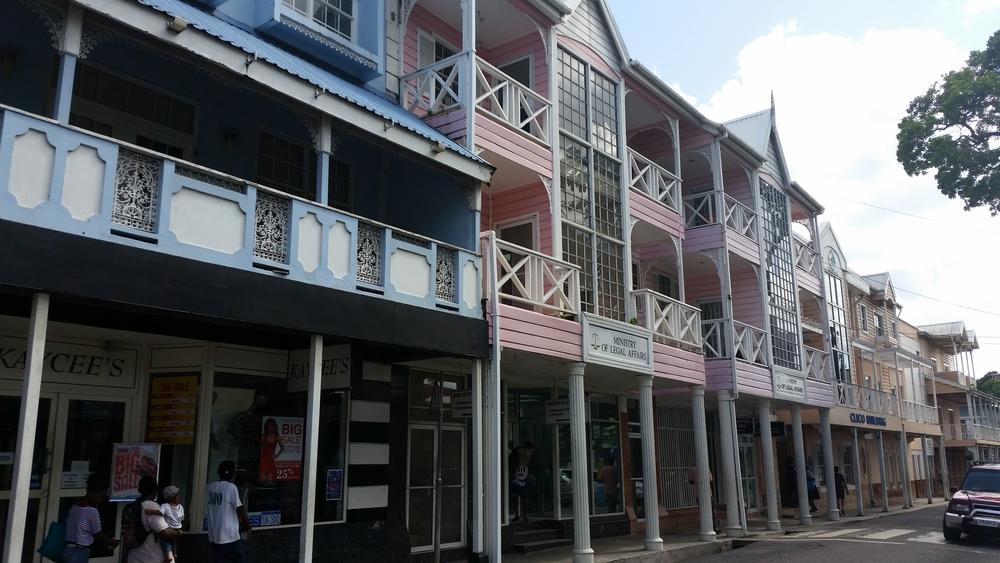 colonial buildings, castries