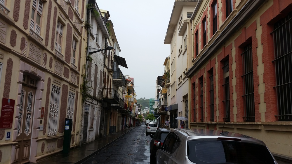 a wet sunday in fort de france
