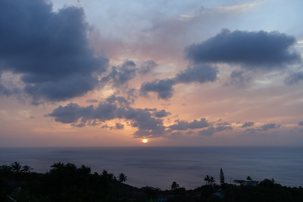 Montserrat sunset from seaview suites