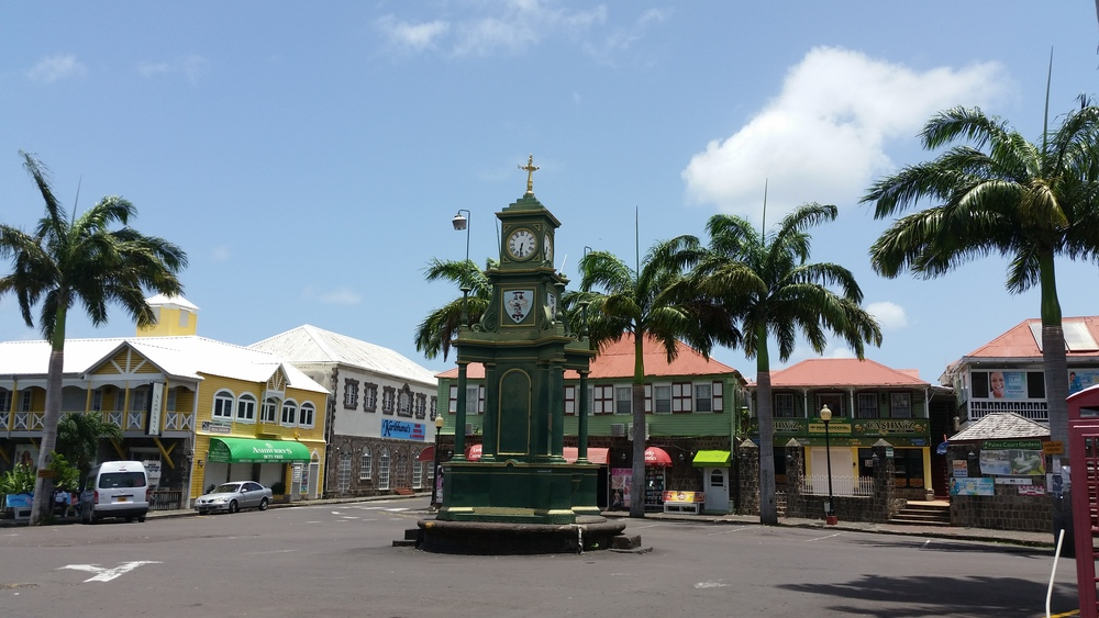main square, basseterre
