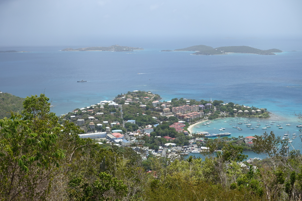 cruz bay from caneel hill