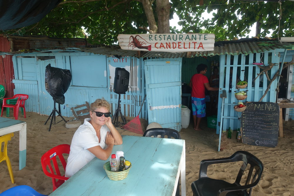 there are some great little restaurants on the beach at las terrenas - restaurante candelita was one.