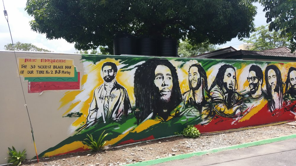 mural, bob marley museum