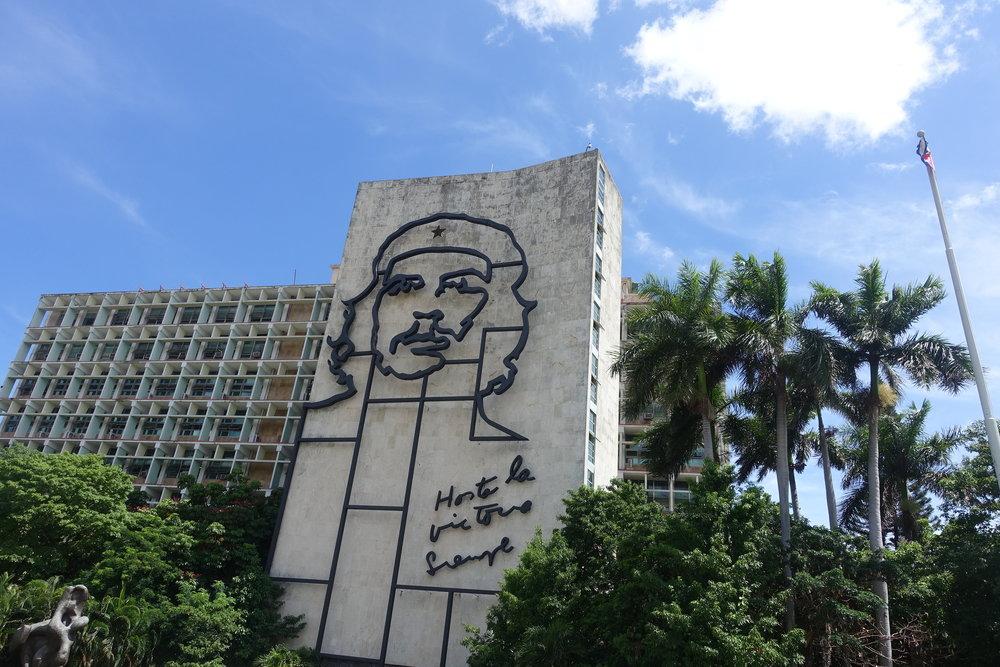 che Guevara in Revolution square