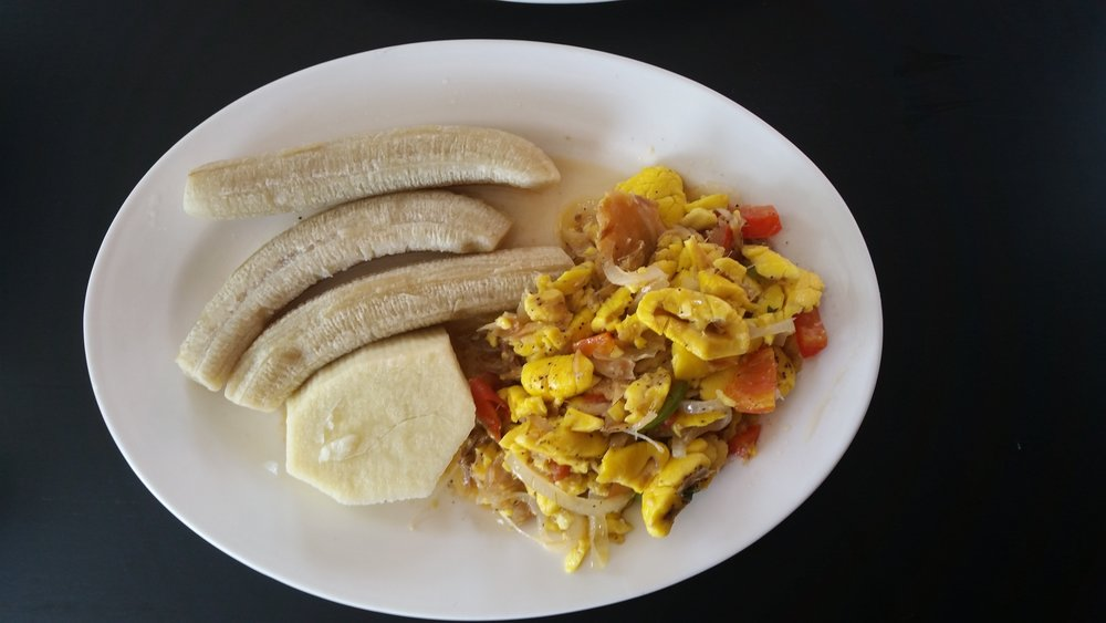 ackee and saltfish - which didn't feed the 5,000