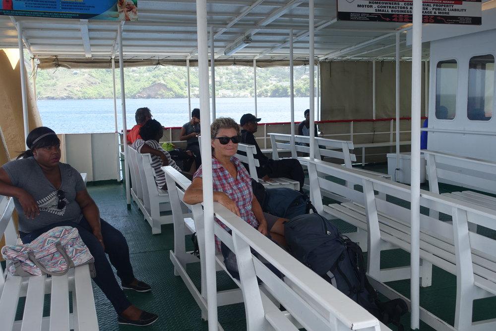 interisland ferry in the grenadines