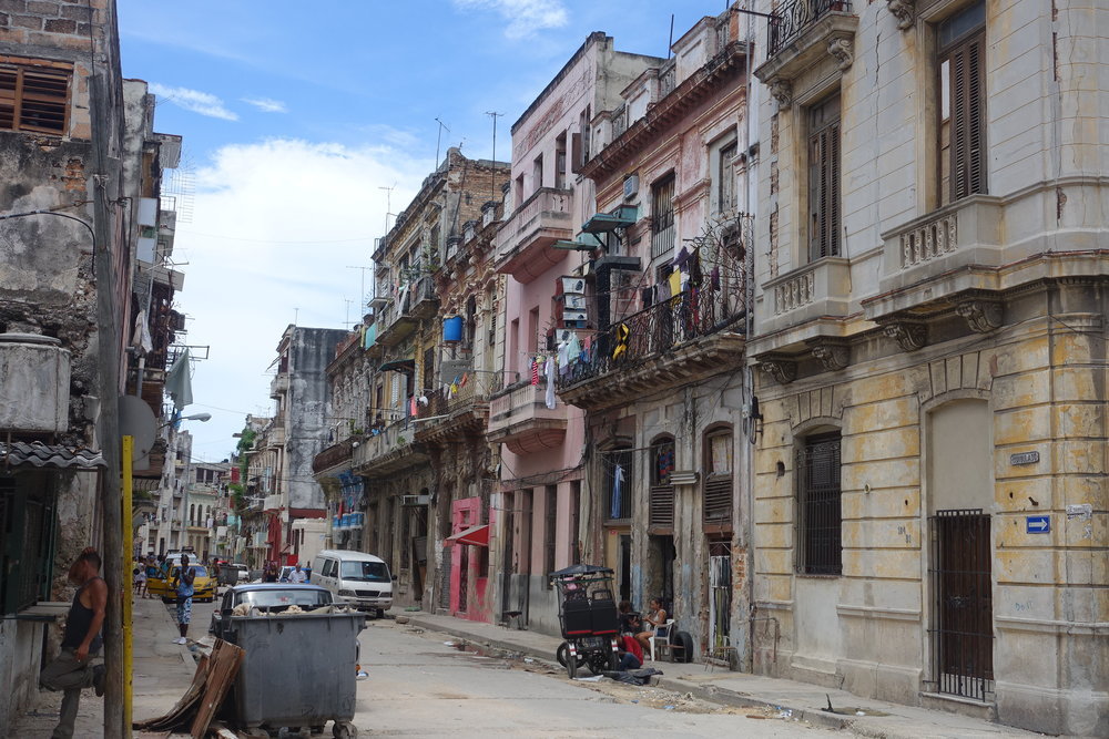 the street of our casa particular in Havana. Never boring.