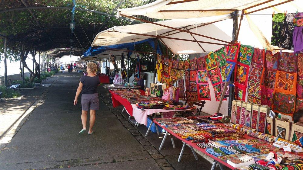 market stalls casco viejo