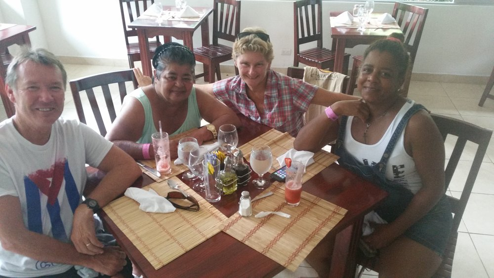 Lunch with Maria and her mum, Olga
