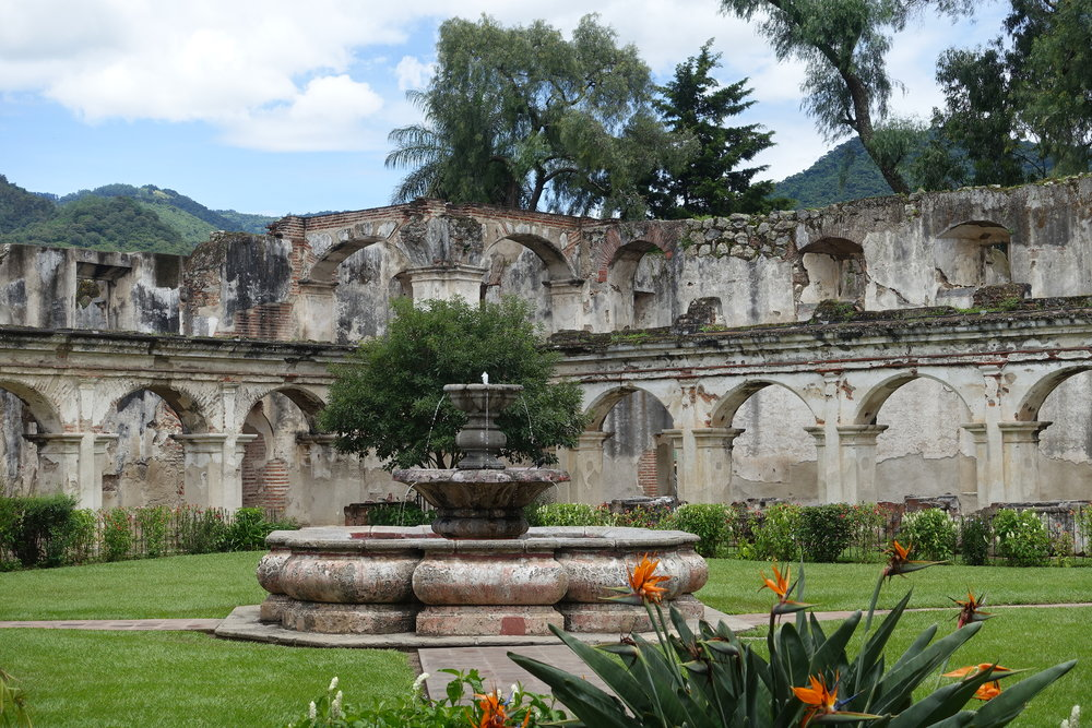 garden and fountain, santa clara