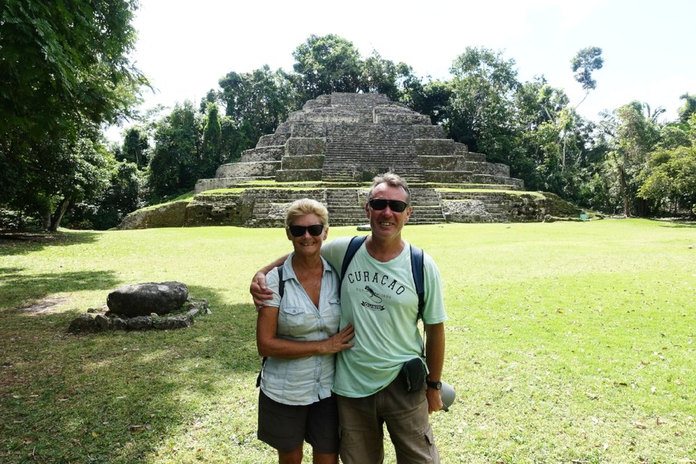 in front of the jaguar temple