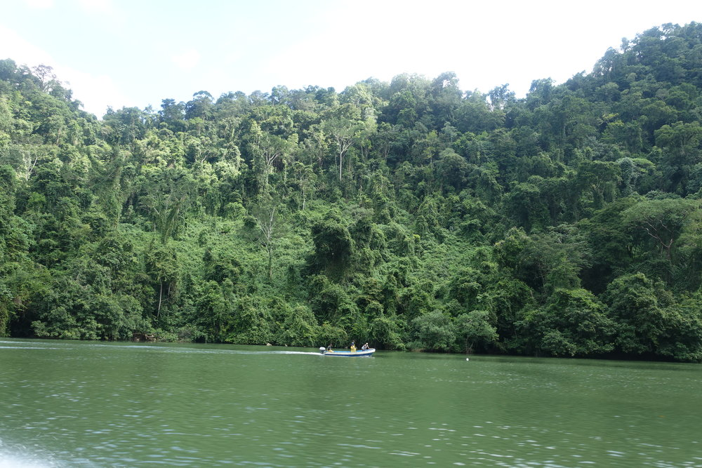 heading up the rio dulce