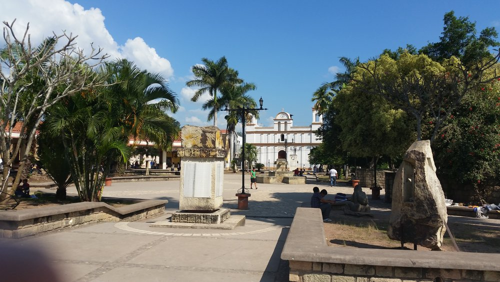 copan ruinas, central plaza