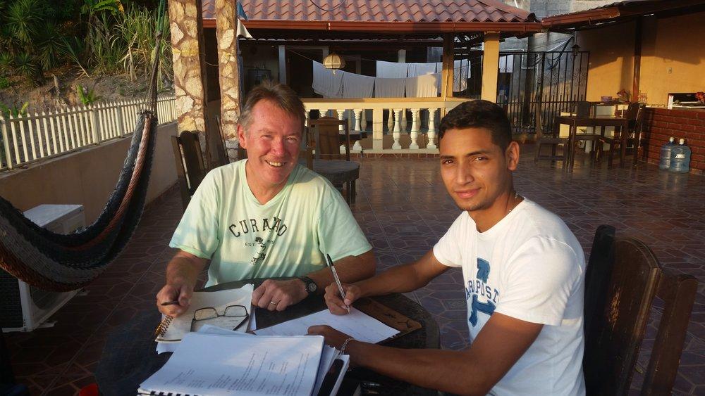 ken with tutor, luis