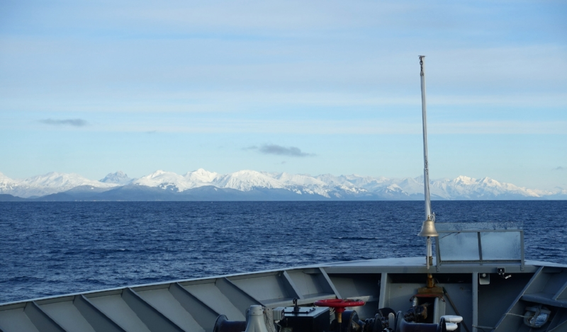 cruising up the fjord to haines