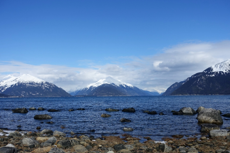 the view from the coast at haines