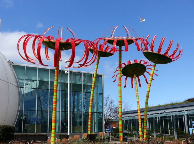 the entrance to chihuly garden and glass