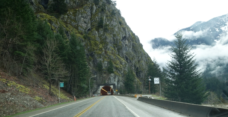 driving through the fraser canyon