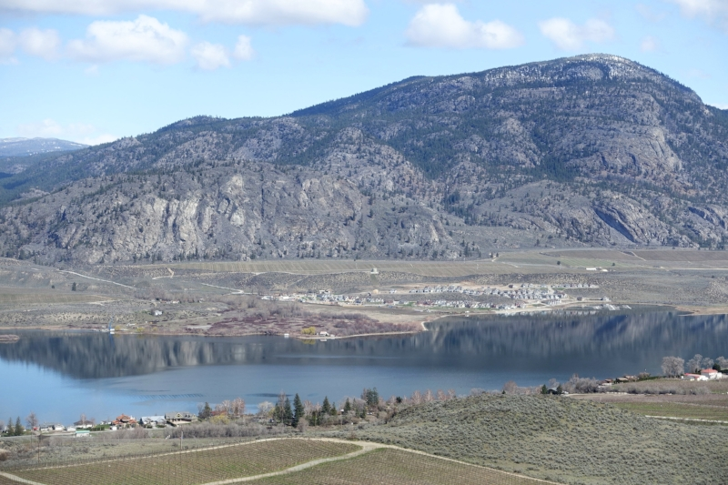 the barren hills around osoyoos