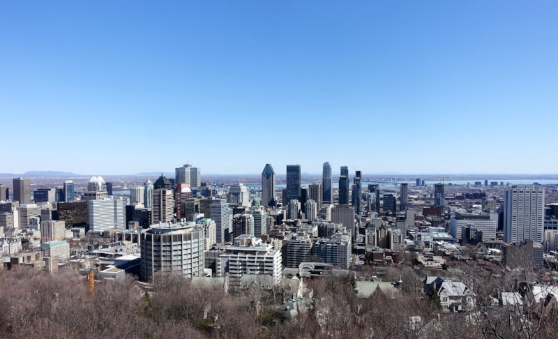 montreal from parc du mont royale