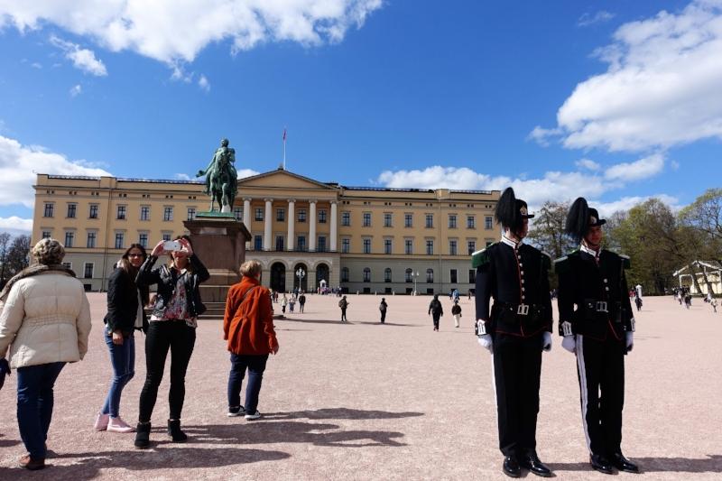 guards at the royal palace