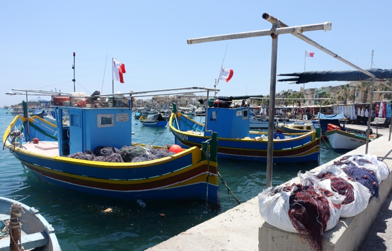 the port town of marsaxlokk