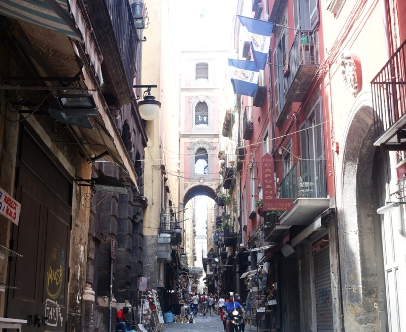 the atmospheric streets of naples