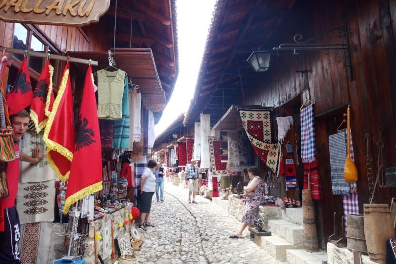 tourist market, kruje