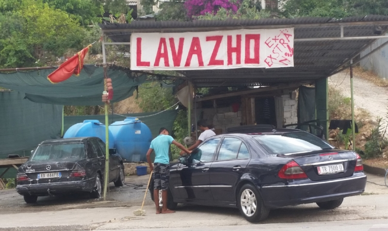 one of the abundant albanian car washes