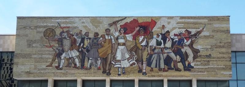 mural - national history museum, tirana