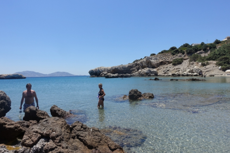 the beach at agios giorgis