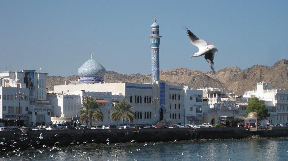 mosque - mutrah corniche