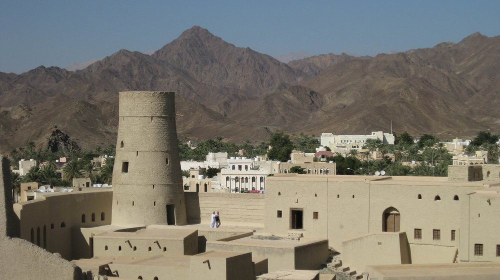 bahla fort and the hajar mountains