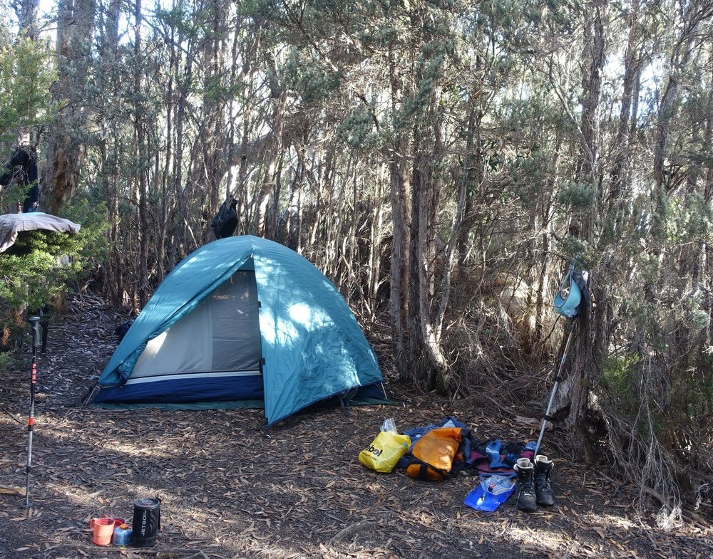 our trusty tent and campsite
