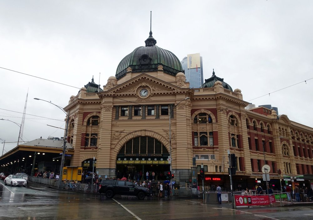 Melbourne's iconic flinders street station