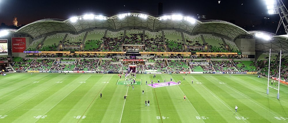 aami park - home of Melbourne storm, Melbourne rebels, and both Melbourne's a league soccer clubs - city and victory