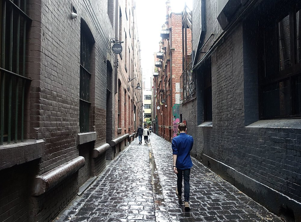 another feature of Melbourne is its interesting alleyways