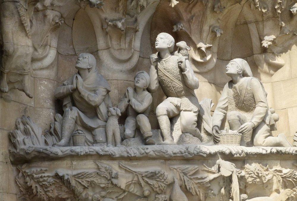 part of the edifice of la sagrada