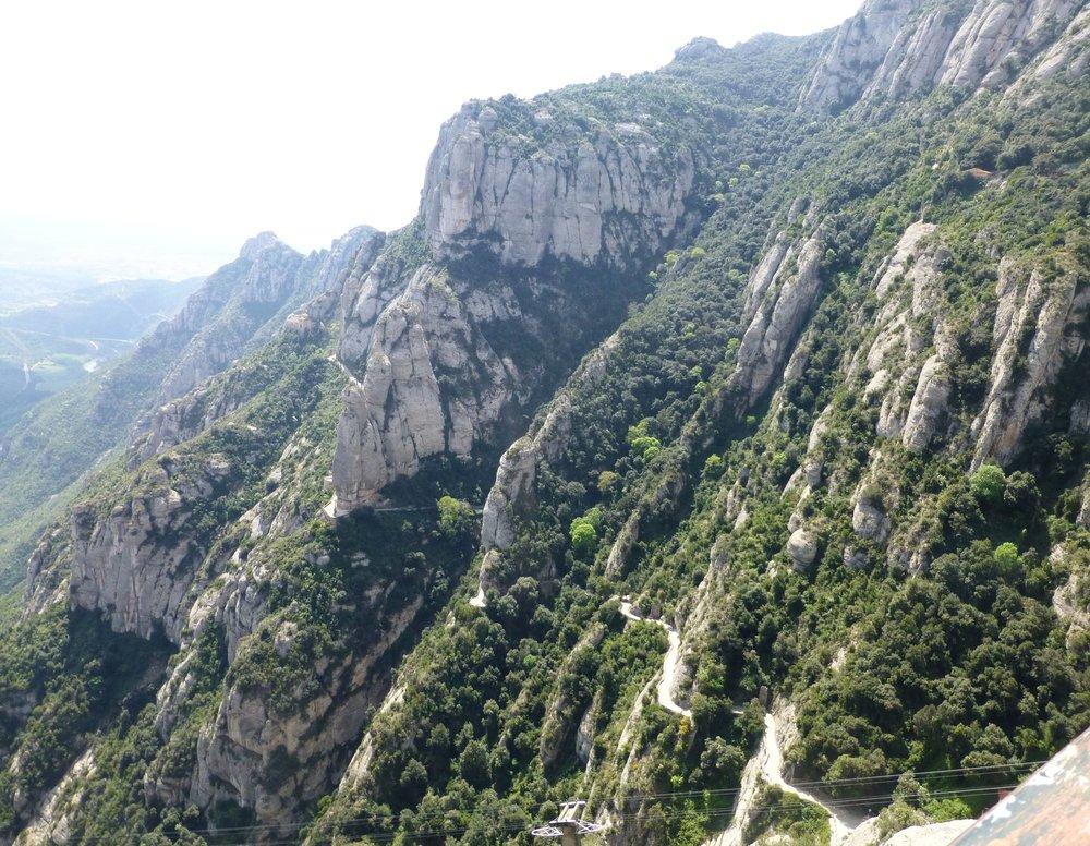 mountain path, montserrat