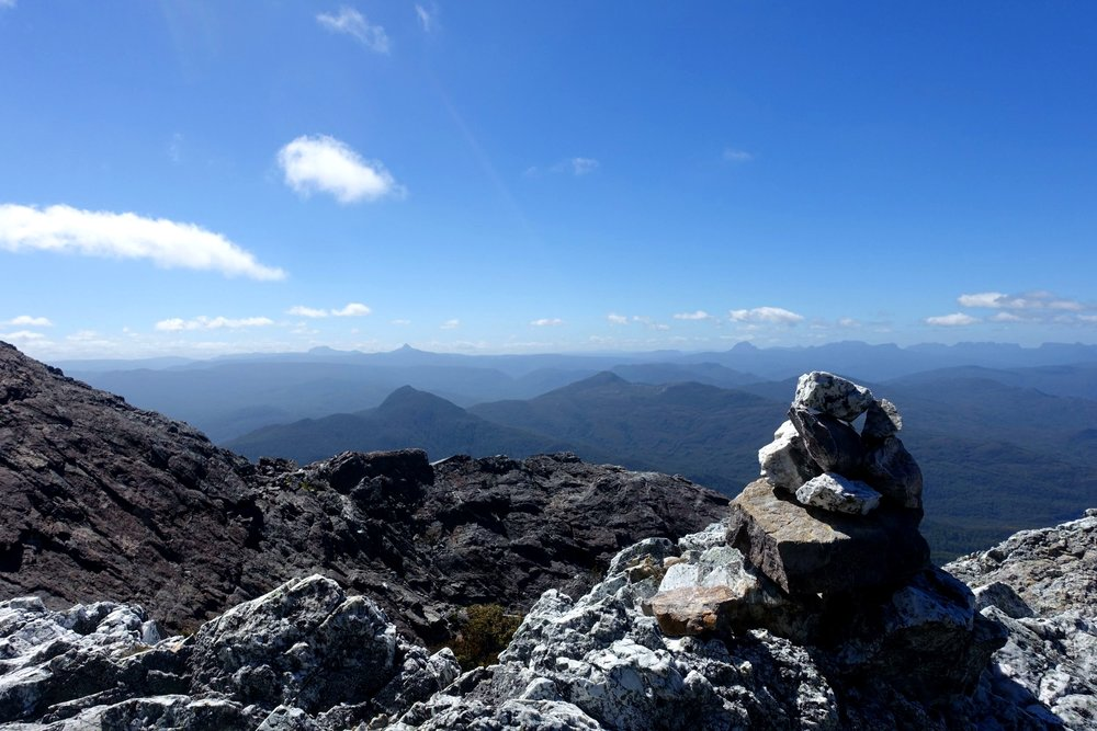 cradle mountain and barn bluff are to the left on this shot