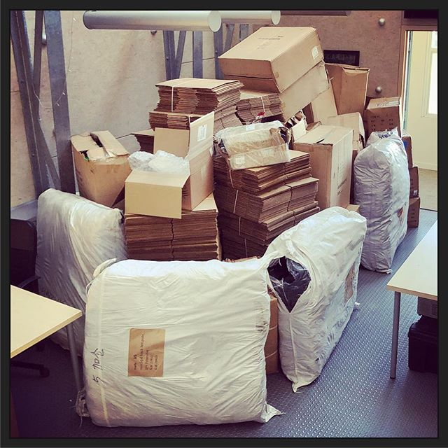 That moment when you outgrow your #coworking space. #startuplife #movingday #startups
