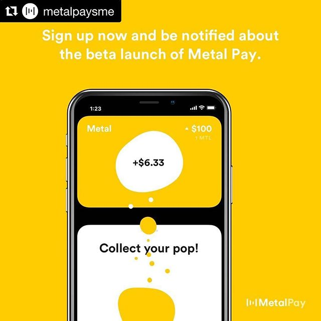 Congratulations to the @metalpaysme team for taking cryptocurrency to the next level ... mainstream! We're so excited to see this #GTWY01 company work so hard to release this beautiful product.  #Repost @metalpaysme with @get_repost ・・・ Signups are now live at http://beta.metalpay.com!  #MetalPay #Metal #MTL #PoPP #Cryptocurrency #CryptoNews #Future #FutureMoney #iOSapp #Payments
