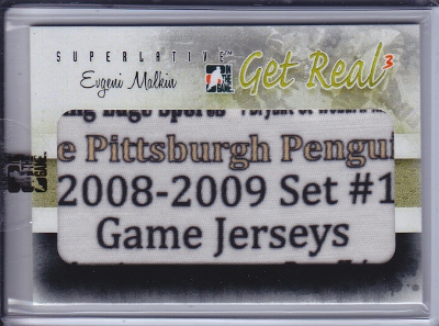 11/12 ITG Superlative V3 Get Real 1/1 Tag Evgeni Malkin