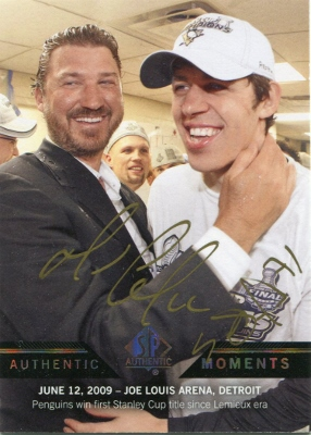 13-14 Upper Deck SP Authentic Authentic Moments Autograph Malkin/Lemieux