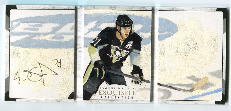 15-16 UD The Cup Exquisite Art of the Game Auto Booklet /3 Evgeni Malkin