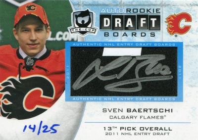 12-13 Upper Deck The Cup Draft Board Sven Baertschi 14/25